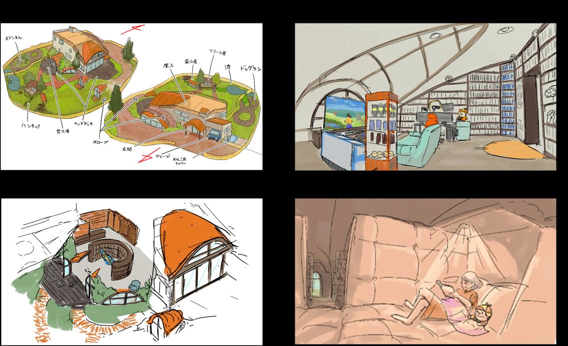 大童澄瞳さんが本田翼さんをイメージして描き起こした家「本田キャッスル」